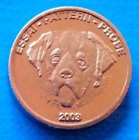 Switzerland 1 euro cent 2003 UNC Bernese Mountain Dog Essai Probe