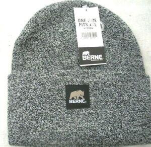 Beanie Hat, Watch Cap, Toboggan Hat, Cuff Cap, Berne Heritage H150, Black/ White