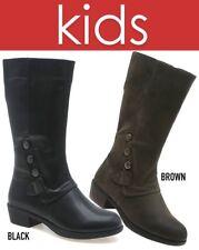 GIRLS KIDS VICTORIAN NEWBUCK BROWN MIDCALF BOOTS SIZE 12, 13, 1, 2, 3, 4