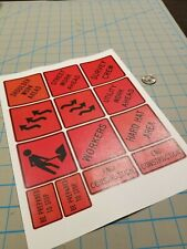 New Scale Construction Road Sign Decals 1:12/1:14/1:16 - No. 3