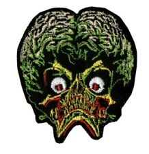 "Mars Attacks! Movie Martian Head 2.75"" Tall Embroidered Iron on Patch"