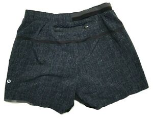 "Lululemon Surge Short Linerless 5"" Men's Small Navy Blue Black Design"