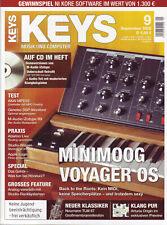 Keys 09 2008 auf CD 160 MB Samples Minimoog Voyager OS Praxis Ableton Live