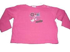 s. Oliver tolles Langarm Shirt Gr. 68 rosa mit Druckmotiv !!