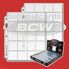 100 BCW 20-Pocket Pages Sheets Holder for 2x2 Coin Flips Collector Archival Safe