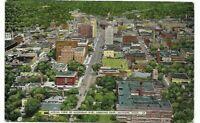 Vintage Post Card c. 1954 Jackson Michigan Birdseye View Michigan Ave.