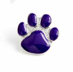 ANIMALS IN WAR BEAUTIFUL PURPLE DOGS PAW ENAMEL PIN BADGE BROOCH POPPY DAY