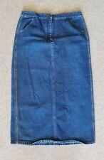NEW YORK CLOTHING CO long Dark Denim Skirt Womens size 10 Modest NWT