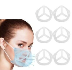 6 Support Pour PE Masque 3D Protège Maquillage Respirant Femme Homme Neuf