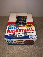 1986 Fleer Basketball Empty Wax Box