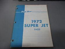 Sno-Jet Snowmobile 1972 Super Jet Parts Manual Y-433