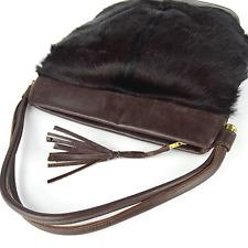 Art Déco Muff-Handtasche Fohlenfell Leder Tasche 40er 50er leather bag vintage