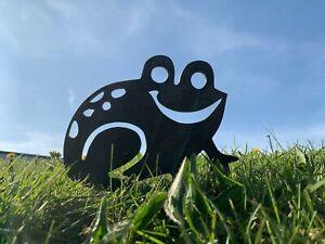 Rusty Frog Silhouette Metal Garden Art
