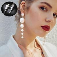 Luxury Layer Rounds Pendant Long Drop Earrings Jewelry Dangle Charm Earring