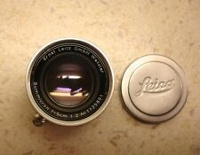 LEICA SUMMICRON  COLLAPSIBLE F2 - 50mm M BAYNET FIT LENS 1954 VERY RARE LENS
