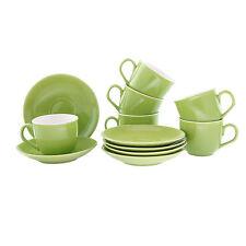 Green Ceramic Cup Saucer (Set of 6) Hot Ceramic Beverage Cup & Saucer Set