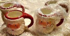 "Set of 4 New Oversized Santa Mugs Midwest Cbk Inc. 5"" tall Dw Safe"