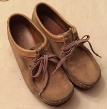 Clarks Wallabees Low Womens 36395 5.5 Tan