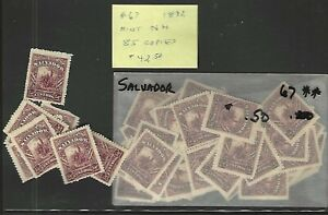 SALVADOR Classics...#67...Mint NH...1892...Dealer's Lot of 85...SCV $42.50