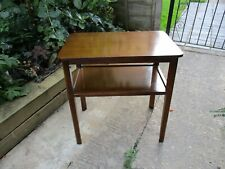 Fab Vintage Retro Deco Utility Oblong Oak Side Hall Table w/ Shelf Excellent Con