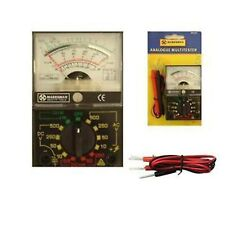 Analogue Multimeter Multi Read Electrical Circuit Tester Meter AC DC BLUE SPOT