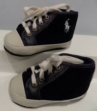 Infant Baby Boy's Girl's Ralph Lauren Layette Athletic Shoes Size 2 High Tops