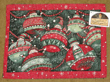 Hanging Around Rolly Polly Snowman Christmas Tapestry Placemat