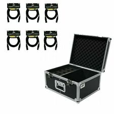Osp Microphone Road Case Holds 15 Mics & Storage & 6 Mic Cables 15' ft