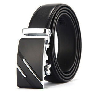 Belt Men Genuine Luxury Leather Belts for Men Strap Male Metal Automatic Buckle