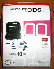 3DS-3DSXL-DSi-DSiXL Nintendo Ultimate Kit - Pink - With Free Headset!!- New!!