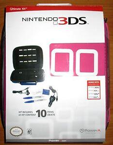 3DS-3DSXL-DSi-DSiXL Nintendo Ultimate Kit -Pink- w/ Free Stylus 10 Pack! *New!!