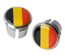 Belgique Drapeau vélo guidon chrome plastique bar end plugs, bungs L'Eroica