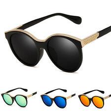 Mujer Vintage Retro Diseño Espejo Gafas de sol Aviador Gafas de colores GAFAS