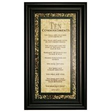Carpentree Ten Commandments Framed Art, 9 by 15 by 1 inch , New, Free Shipping