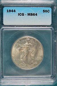 1944-P ICG MS64 Walking Liberty Half Dollar!! #B2057*
