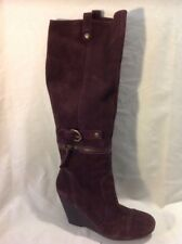 Nine West Purple Knee High Suede Boots Size 5Uk