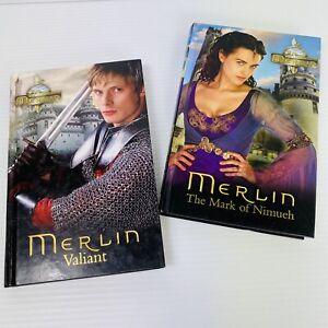 2x Merlin Hardcover Medium Books Valiant + The Mark of Nimueh 2009 FREE Post!