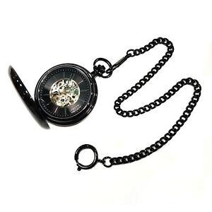 Dugena 4460978 Savonette Pocket Hand Wound Glass Bottom Skeletonized with Chain