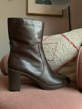 EUC Nine West Foxleigh Brown Leather Boots Size 11
