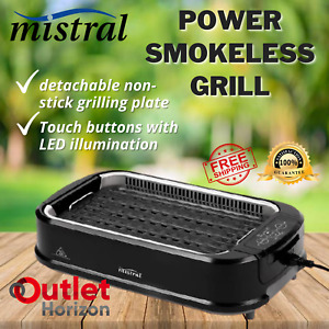 Mistral Smokeless Power Grill Non Stick Portable Indoor Outdoor BBQ Hot Grilling