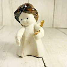 Vintage Colonial Candle Taiwan Angel Girl Candle Climber Holder Hugger Figurine