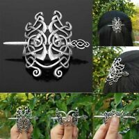 Medieval Women Viking Hairpins Hair Clips Stick Retro Accessories Head Jewelry