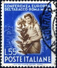 ITALIA REP. - 1950 - Conferenza Europea del Tabacco - 55 Lire