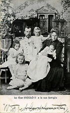 RUSSIAN ROYALTY - TSAR NICHOLAS & FAMILY ORIGINAL ca 1900s POSTCARD