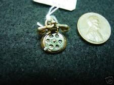 14K Gold Telephone Charm-Moveable dial -Says I Luv U On Dial