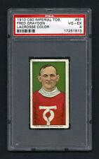 PSA 4 1910 C60 LaCROSSE CARD #81  FRED GRAYDON