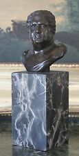 Julius Caesar Roman Warrior Military Art Collectible Gift Bronze Marble Statue