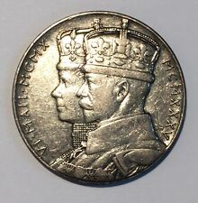 Great Britain 1935 Silver Medal George VI Silver Jubilee Coin Only
