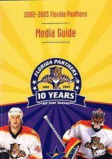 2002/03 Florida Panthers NHL Hockey Media GUIDE