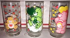 Vintage Care Bear Glass Lot of 3 American Greetings Corp 5""